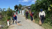 UBND xã Tân Quy Tây ra quân vệ sinh môi trường