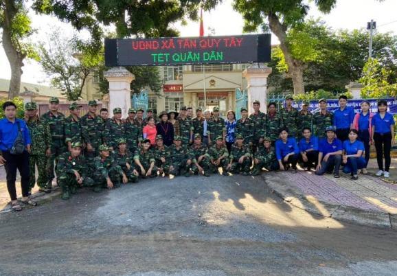 UBND xã Tân Quy Tây thực hiện mô hình Tết quân - dân năm 2020