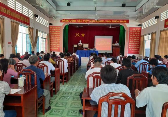 Đảng ủy xã Tân Quy Tây tổ chức hội nghị sơ kết 6 tháng đầu năm 2020
